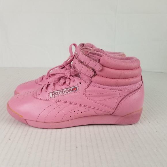 d3276007 Vintage Reebok sz 7 Pink High Top Sneakers 80's
